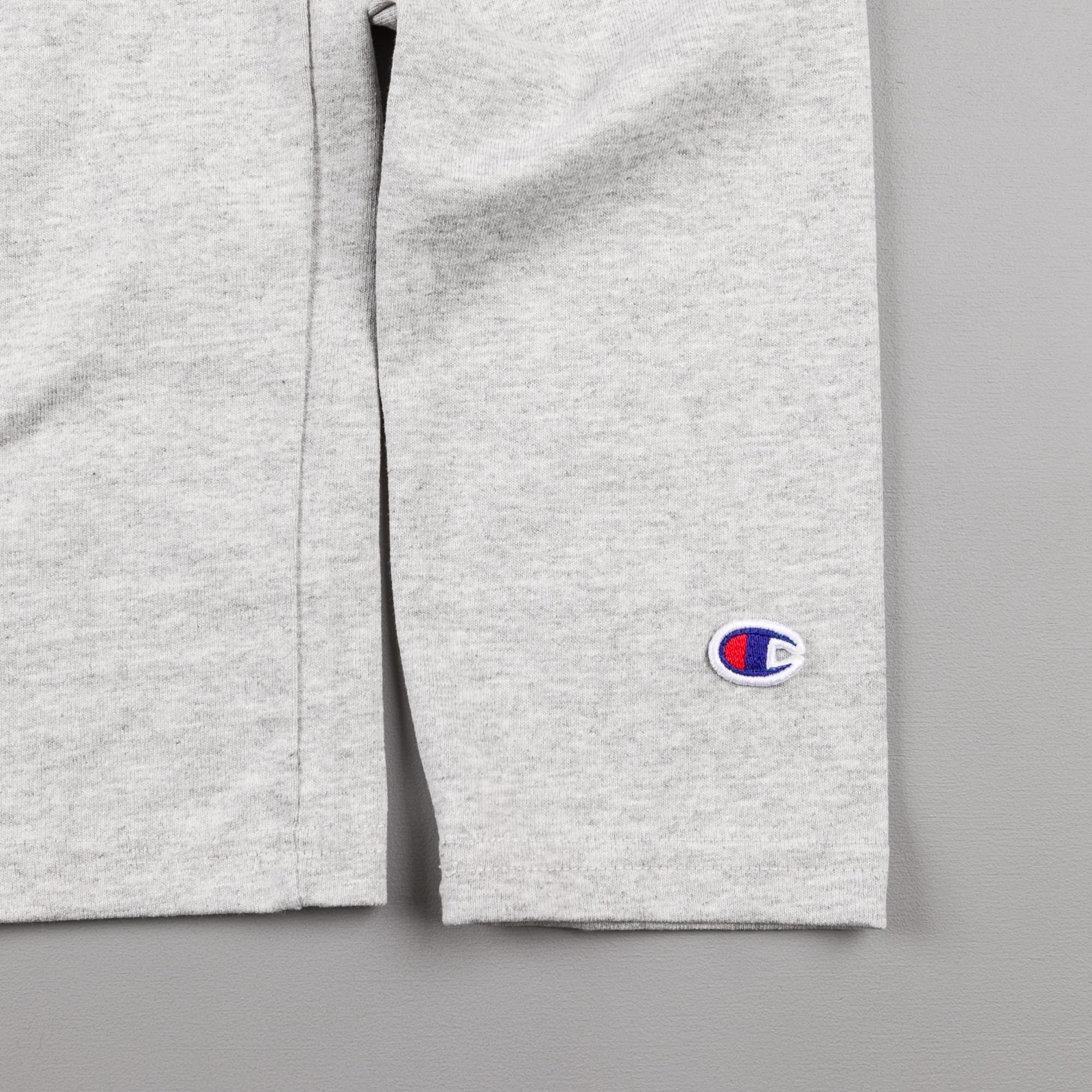 Champion Crew Neck Reverse Weave Longsleeve T-Shirt - Grey