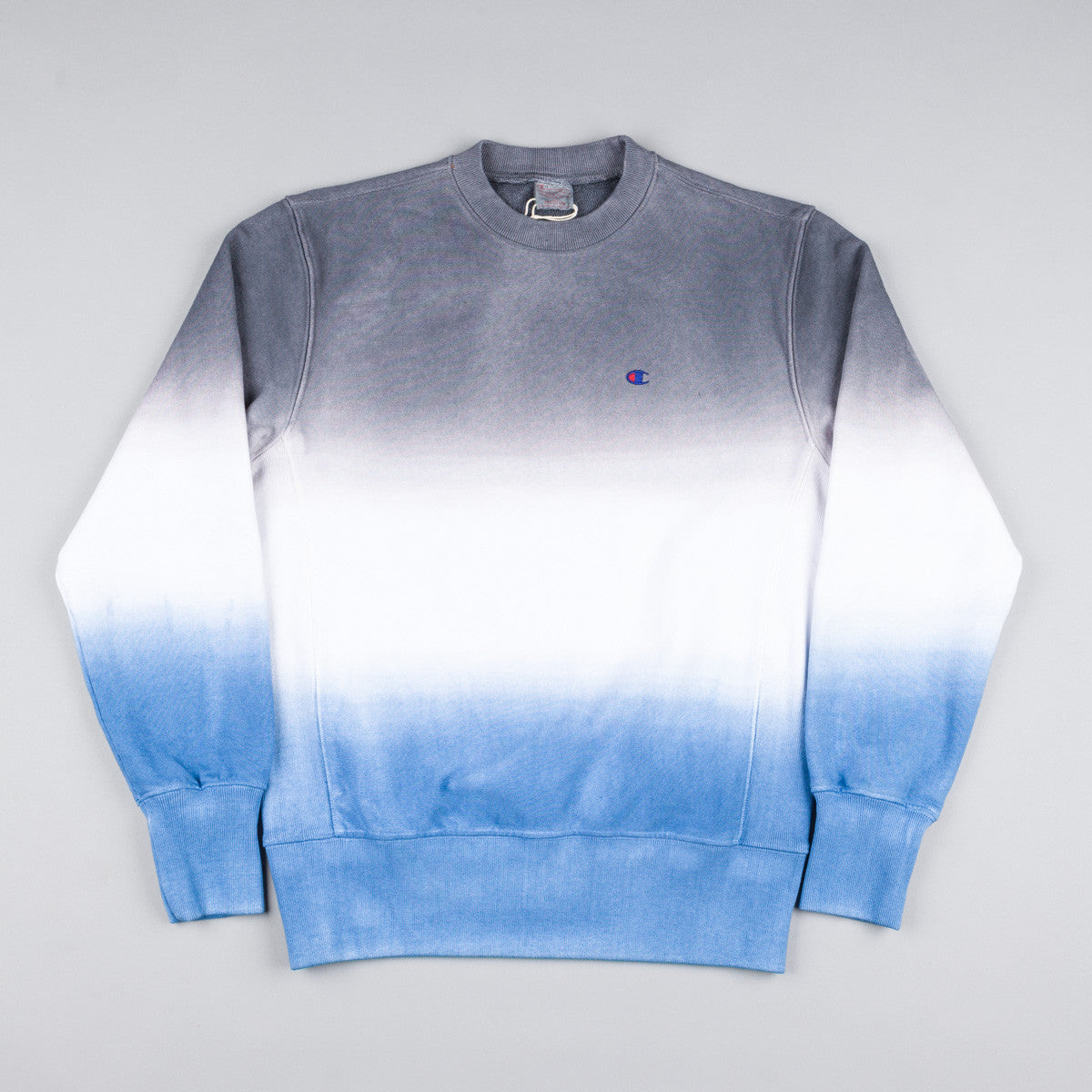 Champion Dip Dyed Classic Crewneck Sweatshirt -  Navy / White / Blue