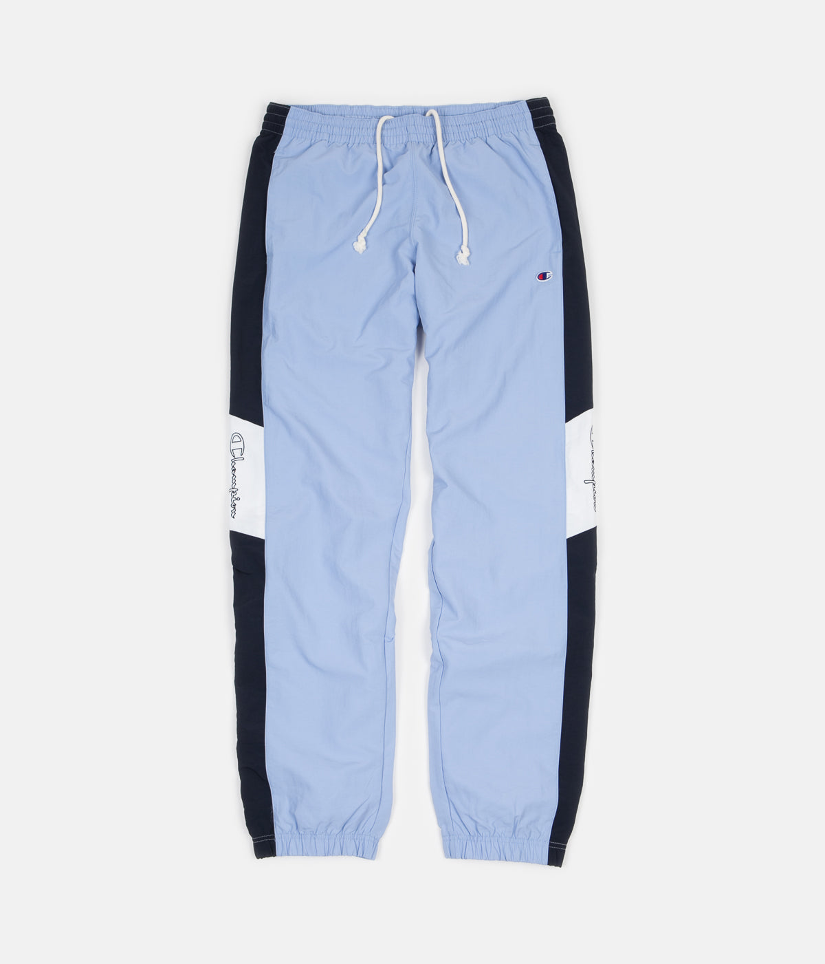 Champion Elastic Cuff Tracksuit Sweatpants - Light Blue / Navy / White