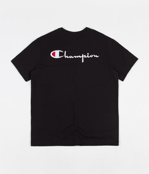 Champion Embroidered Back Logo T-Shirt - Black / White