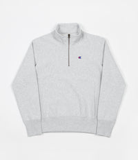 Champion Embroidered Half Zip Sweatshirt - Grey Marl