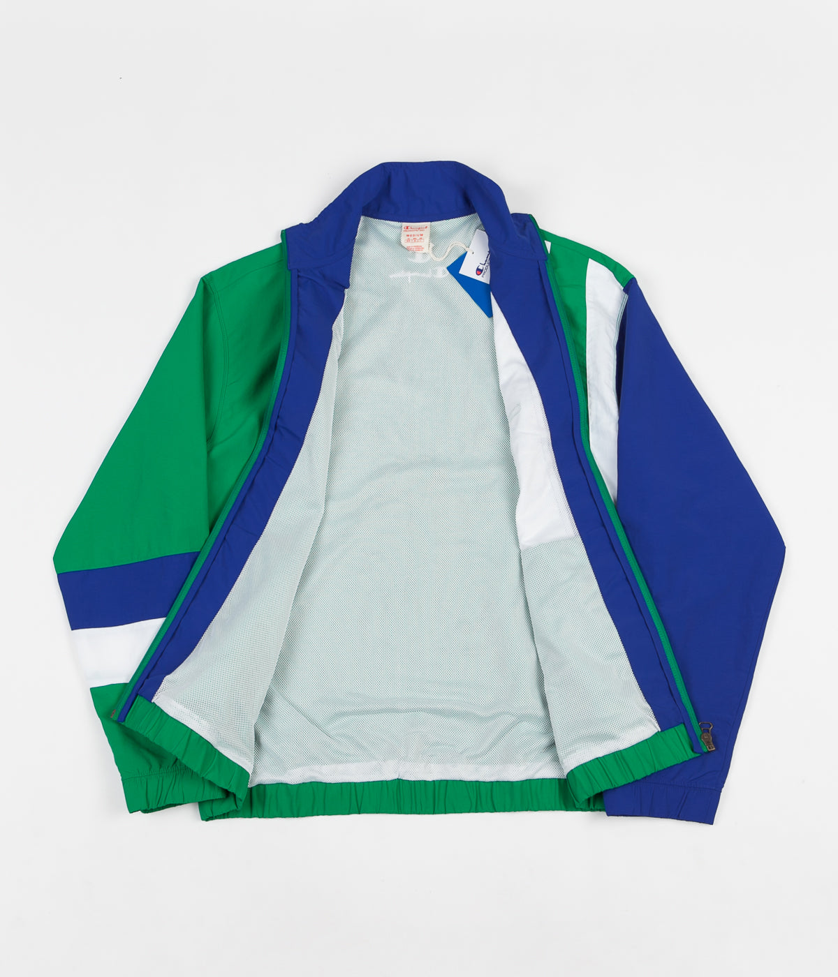 Champion Full Zip Tracksuit Jacket - Green / Blue / White