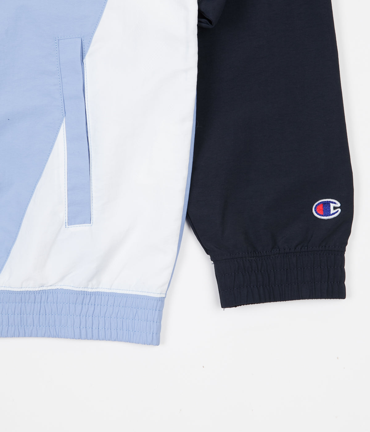 Champion Full Zip Tracksuit Jacket - Light Blue / Navy / White
