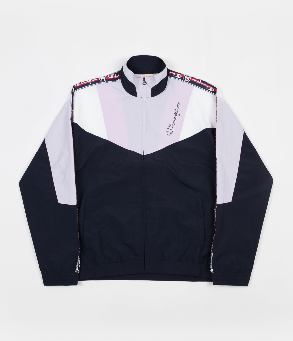 72131304 Champion Full Zip Tracksuit Jacket - Navy / Lilac / White | Flatspot