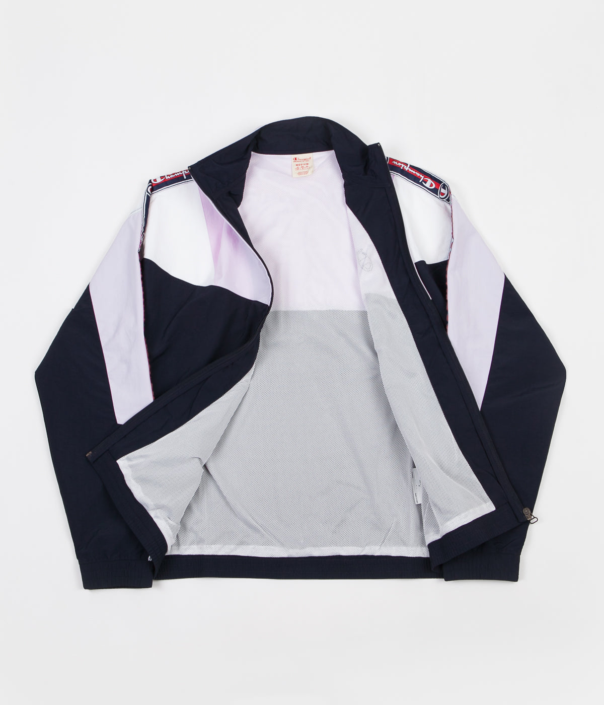 Champion Full Zip Tracksuit Jacket - Navy / Lilac / White