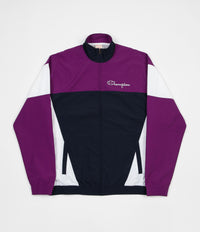 Champion Full Zip Tracksuit Jacket - Navy / Purple / White