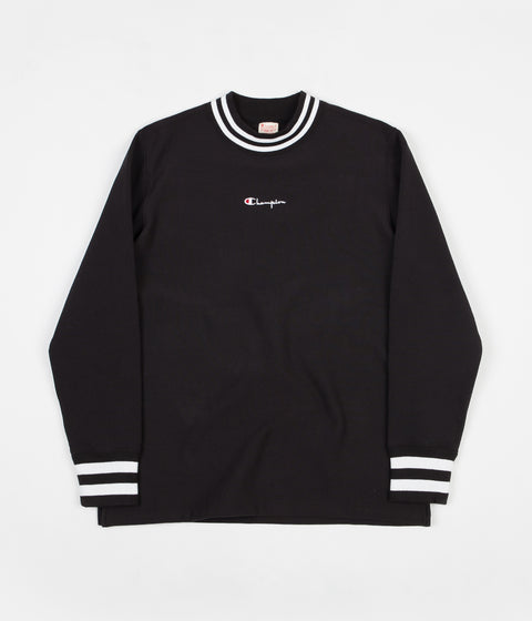 Champion High Neck Crewneck Sweatshirt - Black