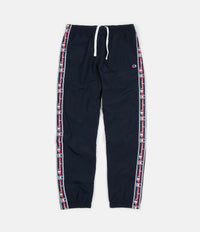 Champion Logo Tape Sweatpants - Navy