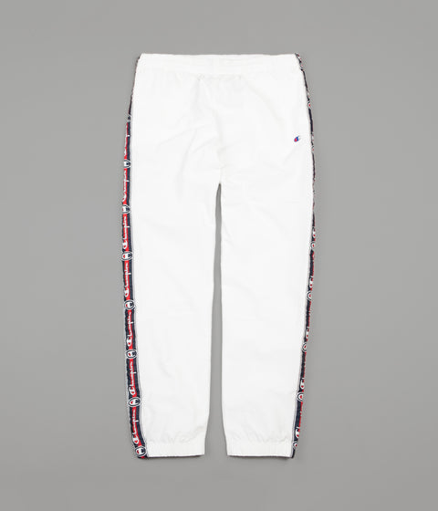 Champion Logo Tape Sweatpants - White