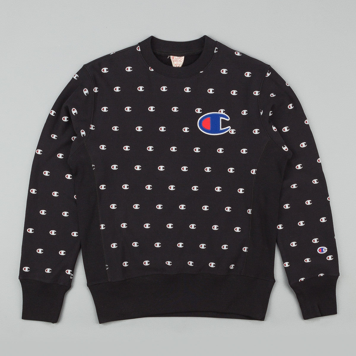 Champion Multi Print Reverse Weave Crew Neck Sweatshirt