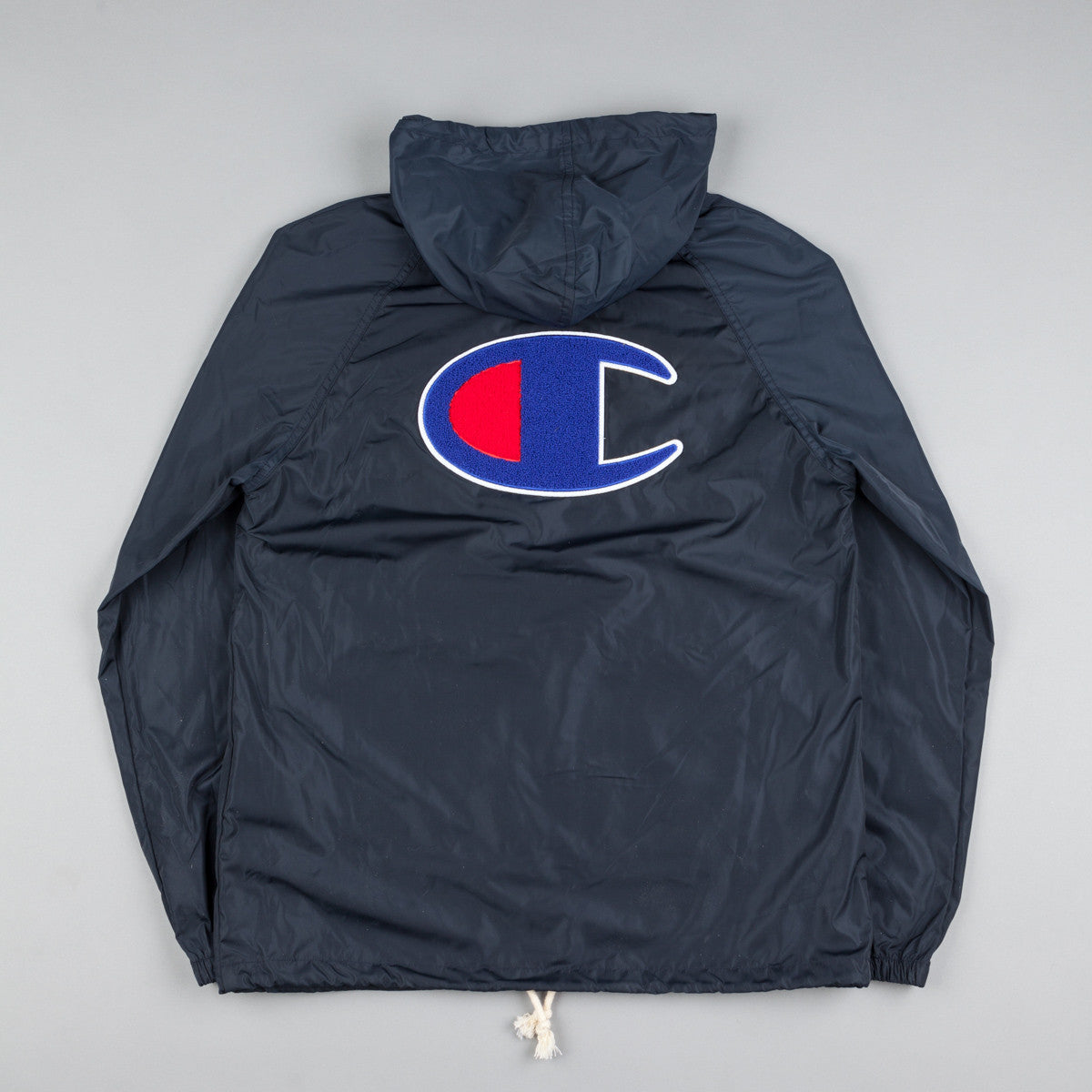Champion Pop Over Wind Runner Jacket - Navy