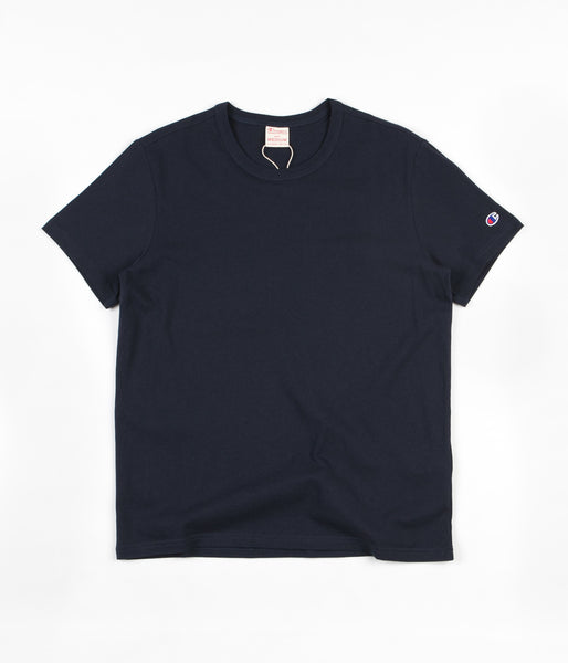 Champion Reverse Weave Basic T-Shirt - Navy