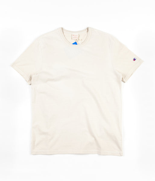 Champion Reverse Weave Enzyme Washed Basic T-Shirt - Beige