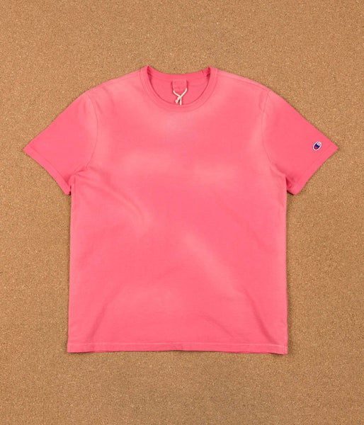 Champion Reverse Weave Enzyme Washed Basic T-Shirt - Coral Pink