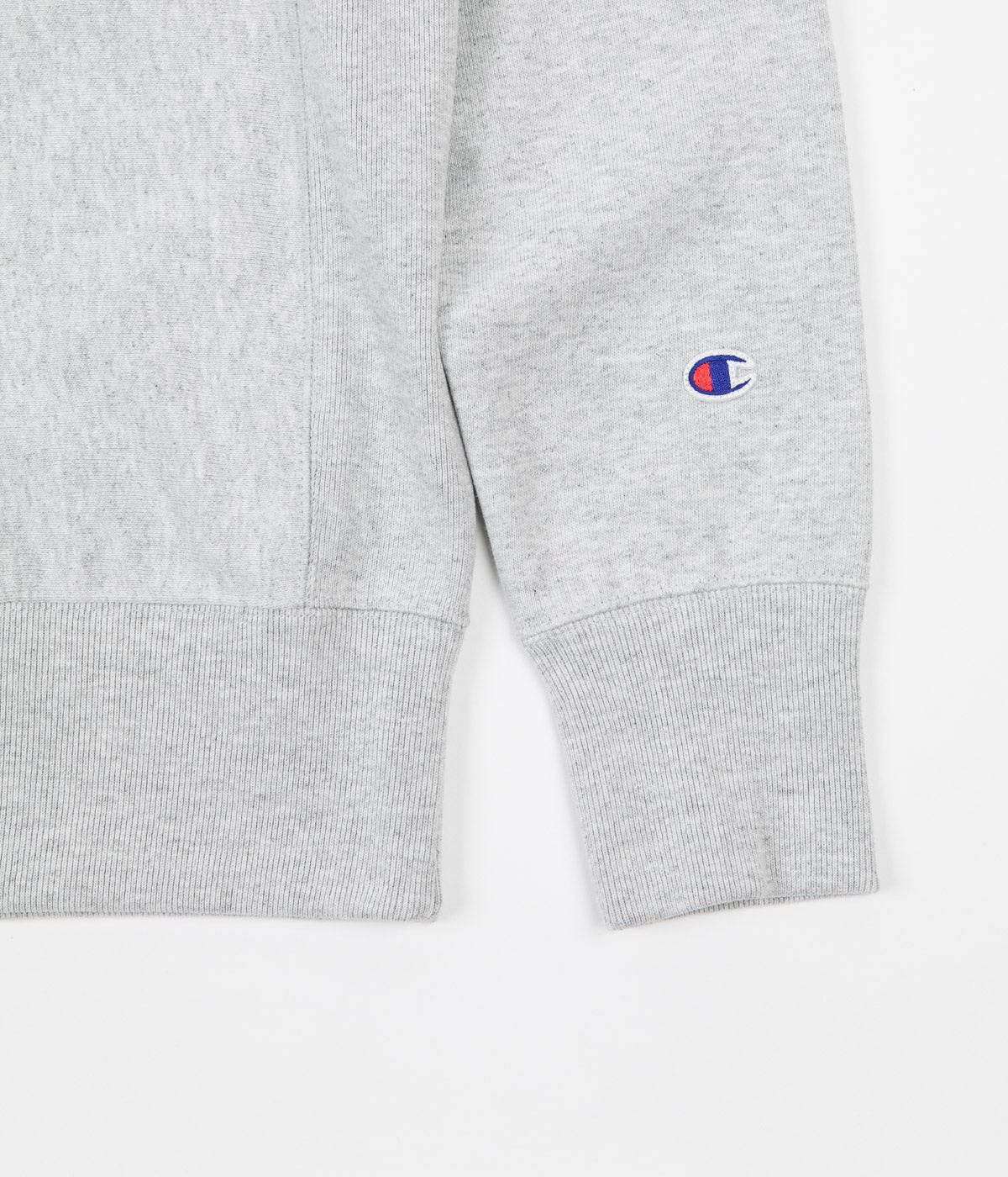Champion Reverse Weave Triple Script Crewneck Sweatshirt - Grey