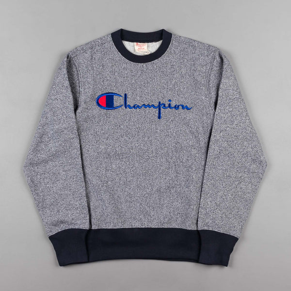 Champion Script Logo Crewneck Sweatshirt - Navy Blue