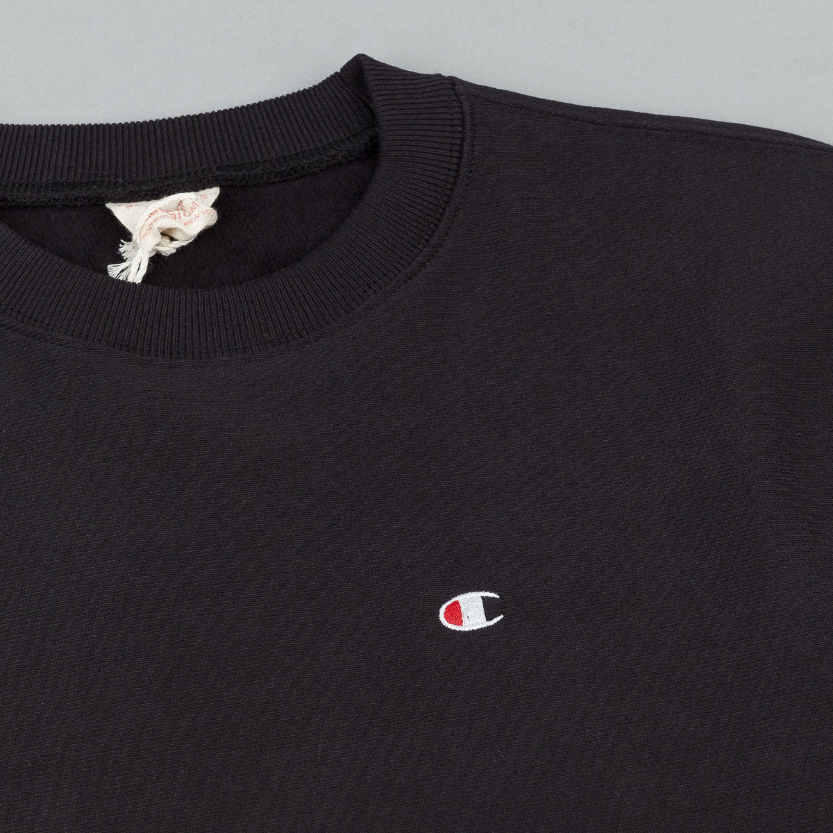 Champion Small C Reverse Weave Crew Neck Sweatshirt - Black