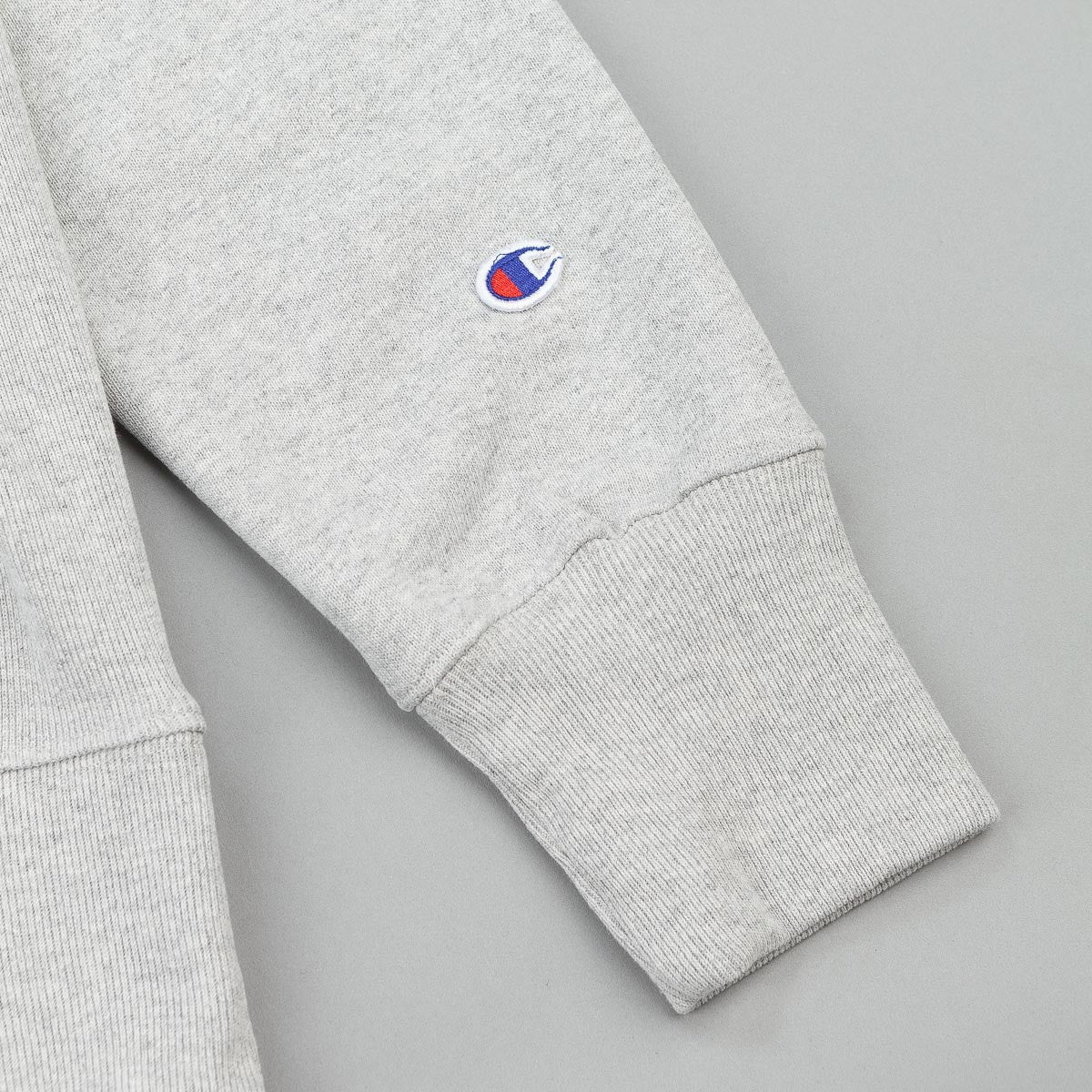 Champion Small C Reverse Weave Hooded Sweatshirt - Grey