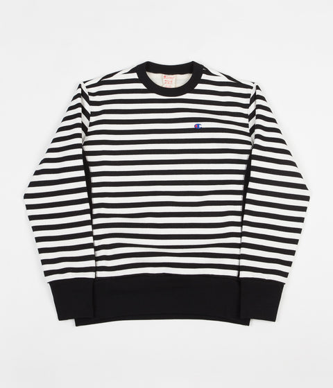 Champion Striped Crewneck Sweatshirt - Black / White