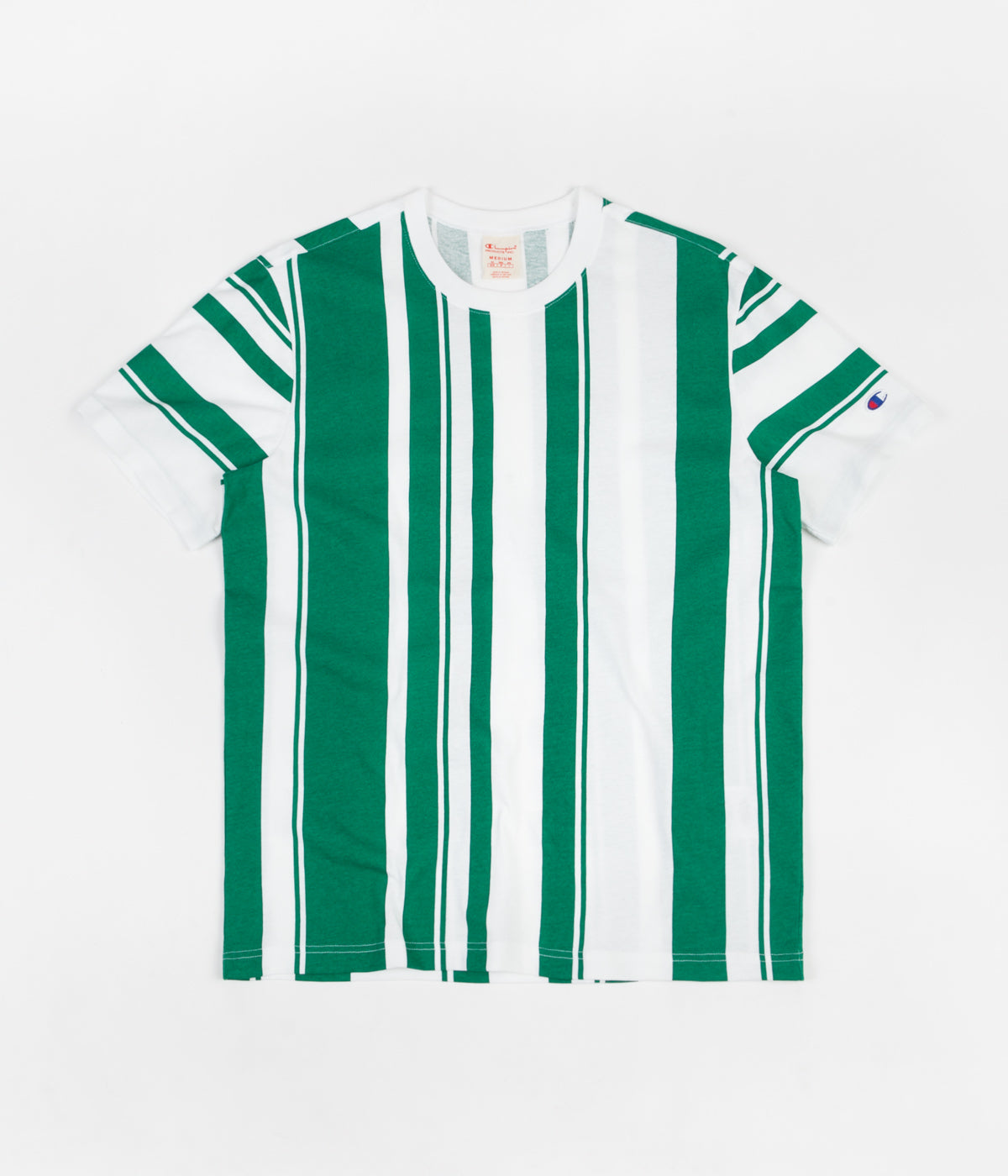 df1da09da Champion Vertical Stripe T-Shirt - White / Green | Flatspot
