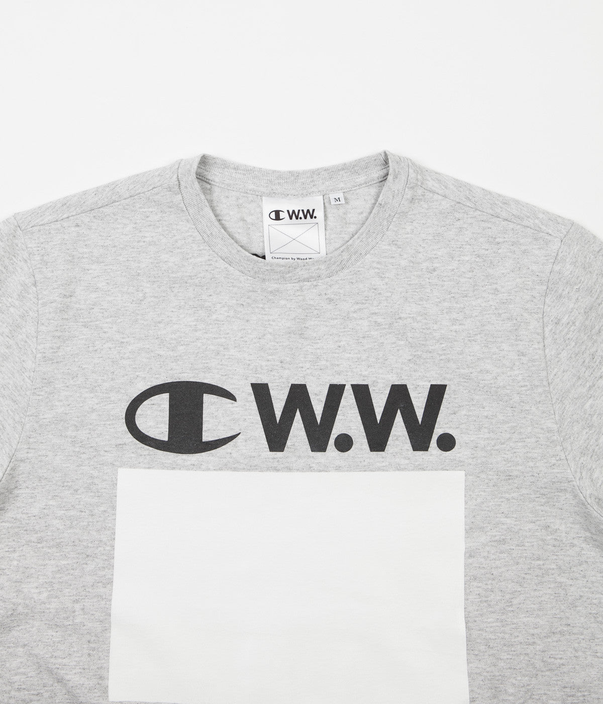 Champion x Wood Wood Alec T-Shirt - Grey Melange