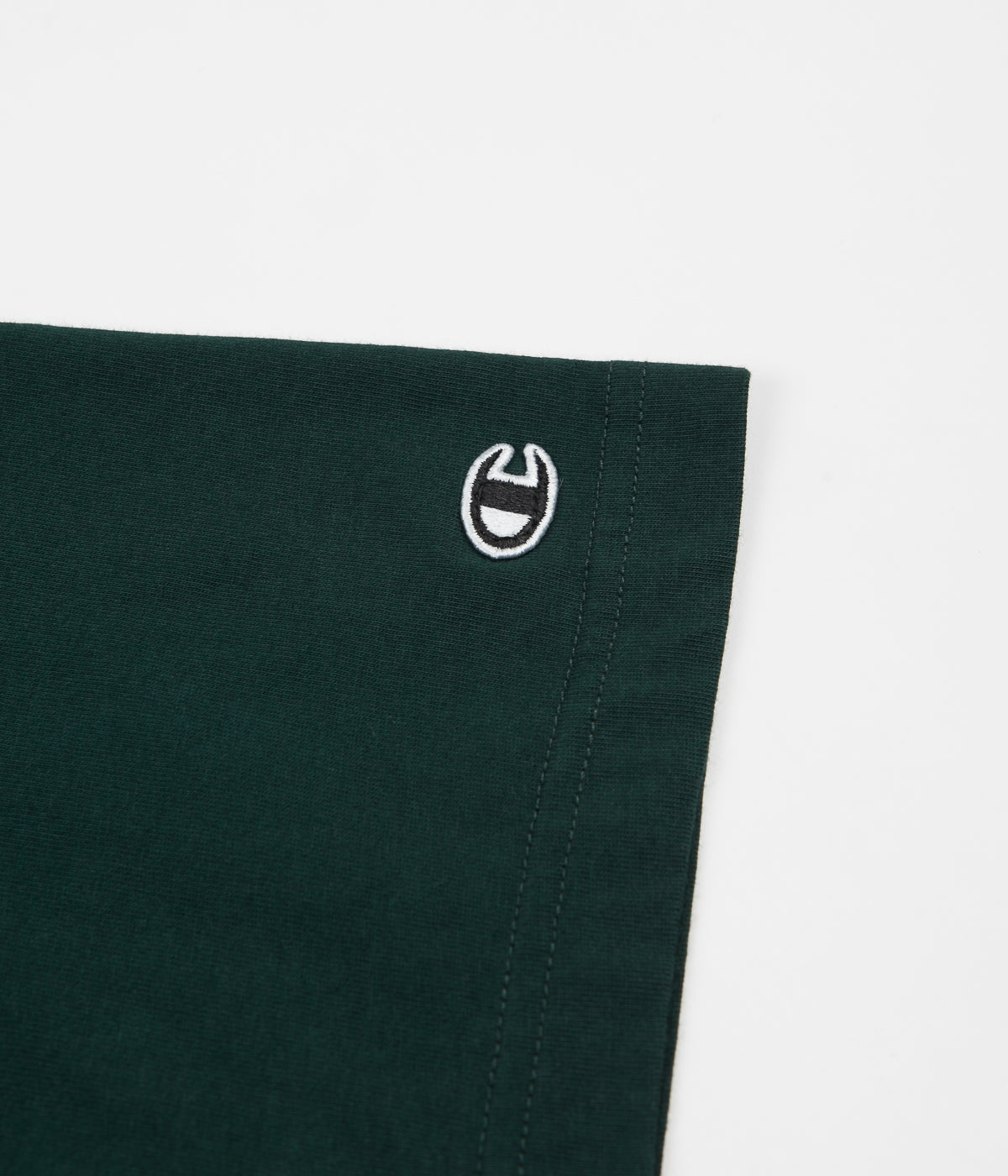 Champion x Wood Wood Rick Box Logo T-Shirt - Green / White