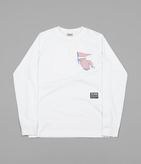 Champion x Wood Wood Rodney Long Sleeve T-Shirt - White