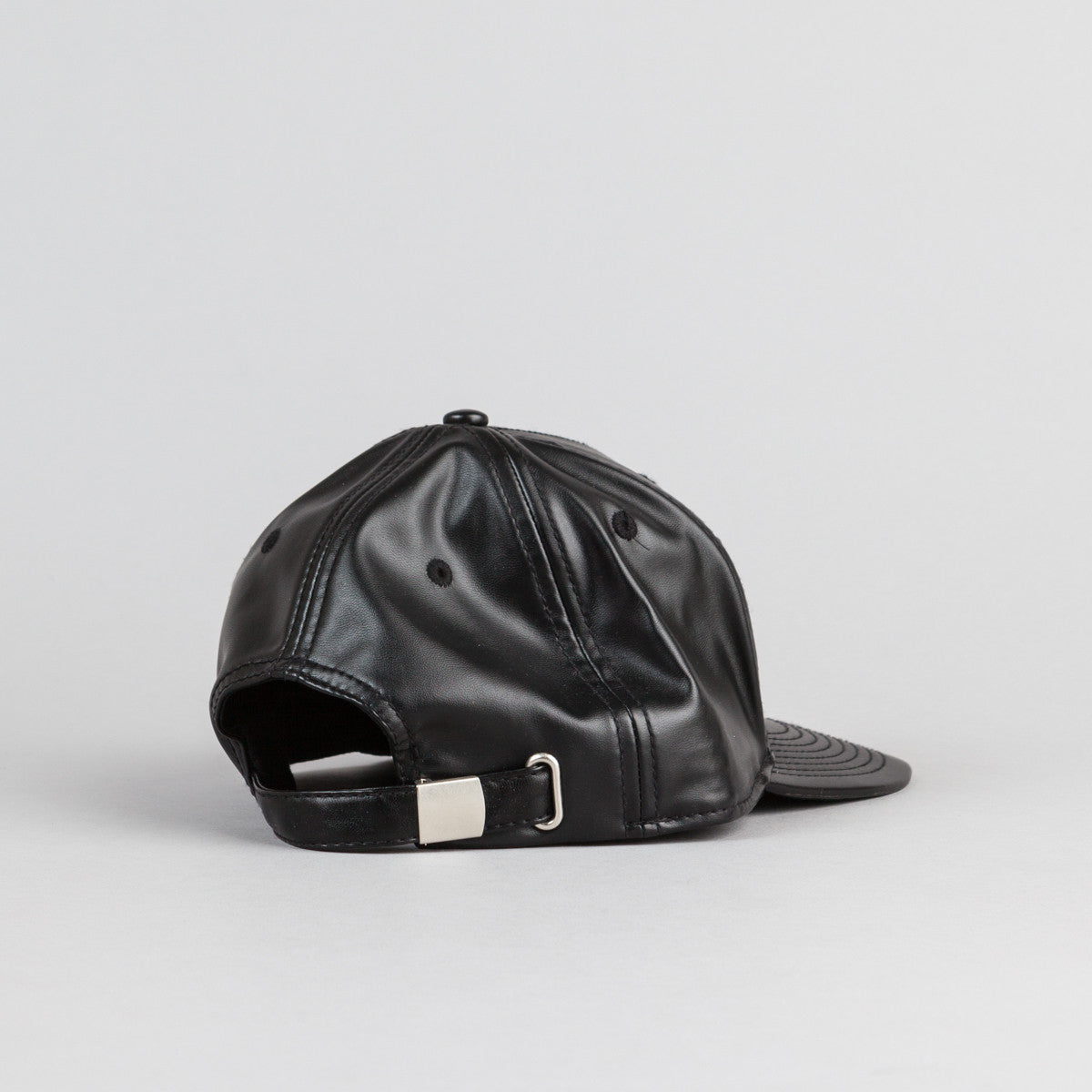 Child Care Bitch Pleather Cap - Black