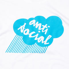 Chocolate X Anti Social Premium T Shirt White