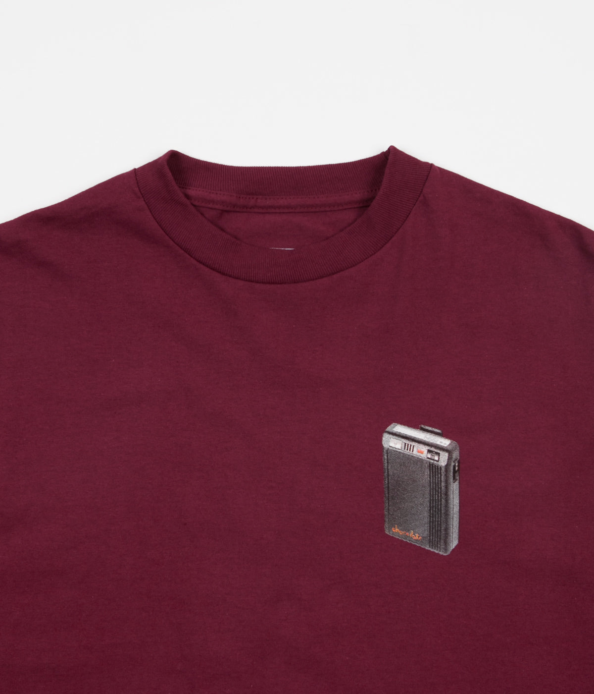 Chocolate Beeper Long Sleeve T-Shirt - Burgundy