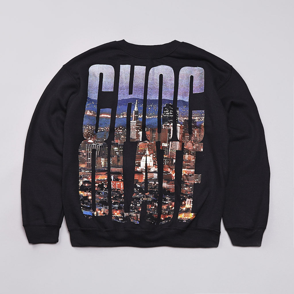 Chocolate Big Choc Crew Sweatshirt Black