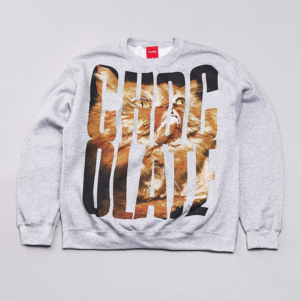 Chocolate Big Choc Crew Sweatshirt Heather Grey