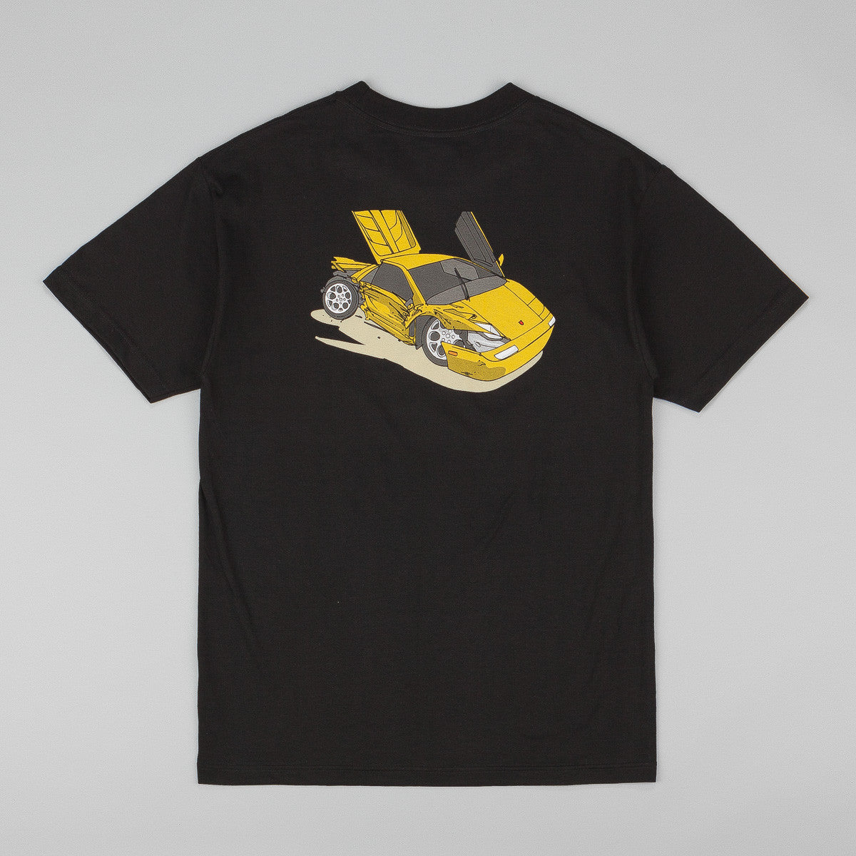 Chocolate Car Crash Lambo T-Shirt - Black