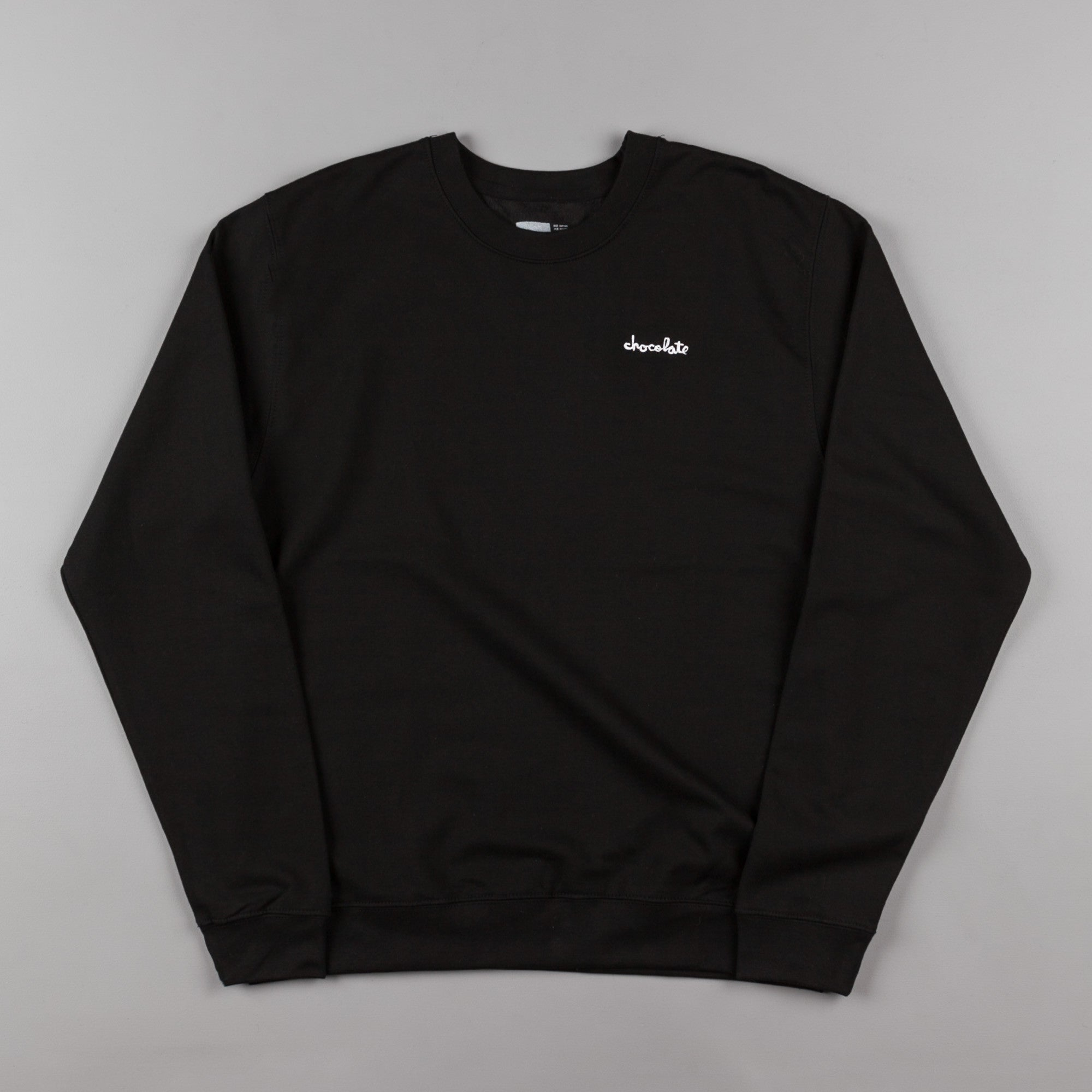 Chocolate Chunk Embroidered Crewneck Sweatshirt - Black