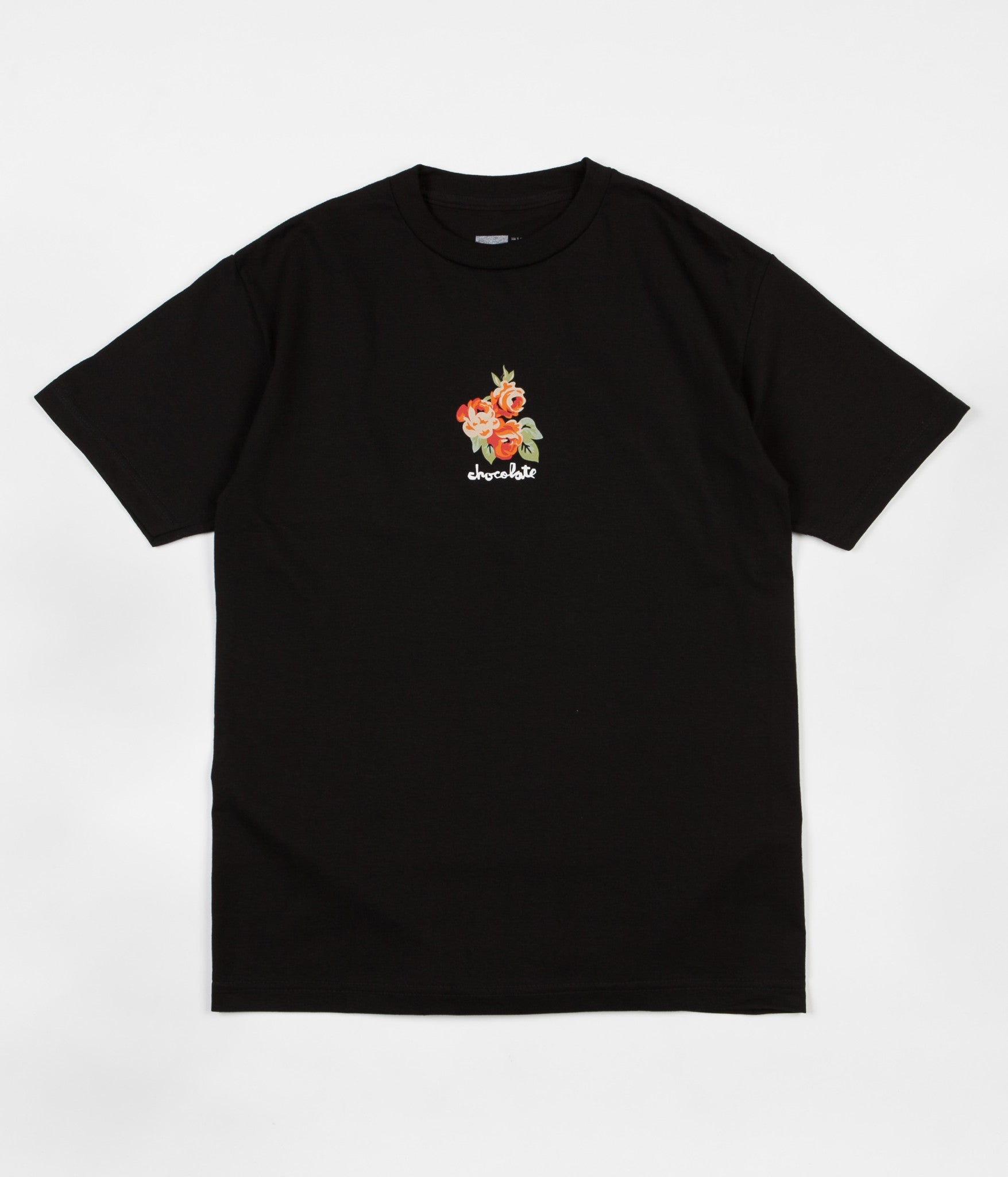 Chocolate Floral Chunk T-Shirt - Black