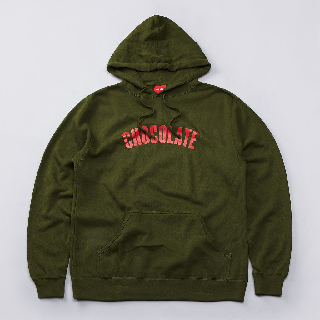 Chocolate League Hooded Sweatshirt Khaki