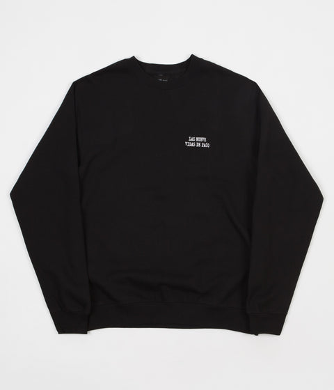 Chocolate Paco Embroidered Crewneck Sweatshirt - Black