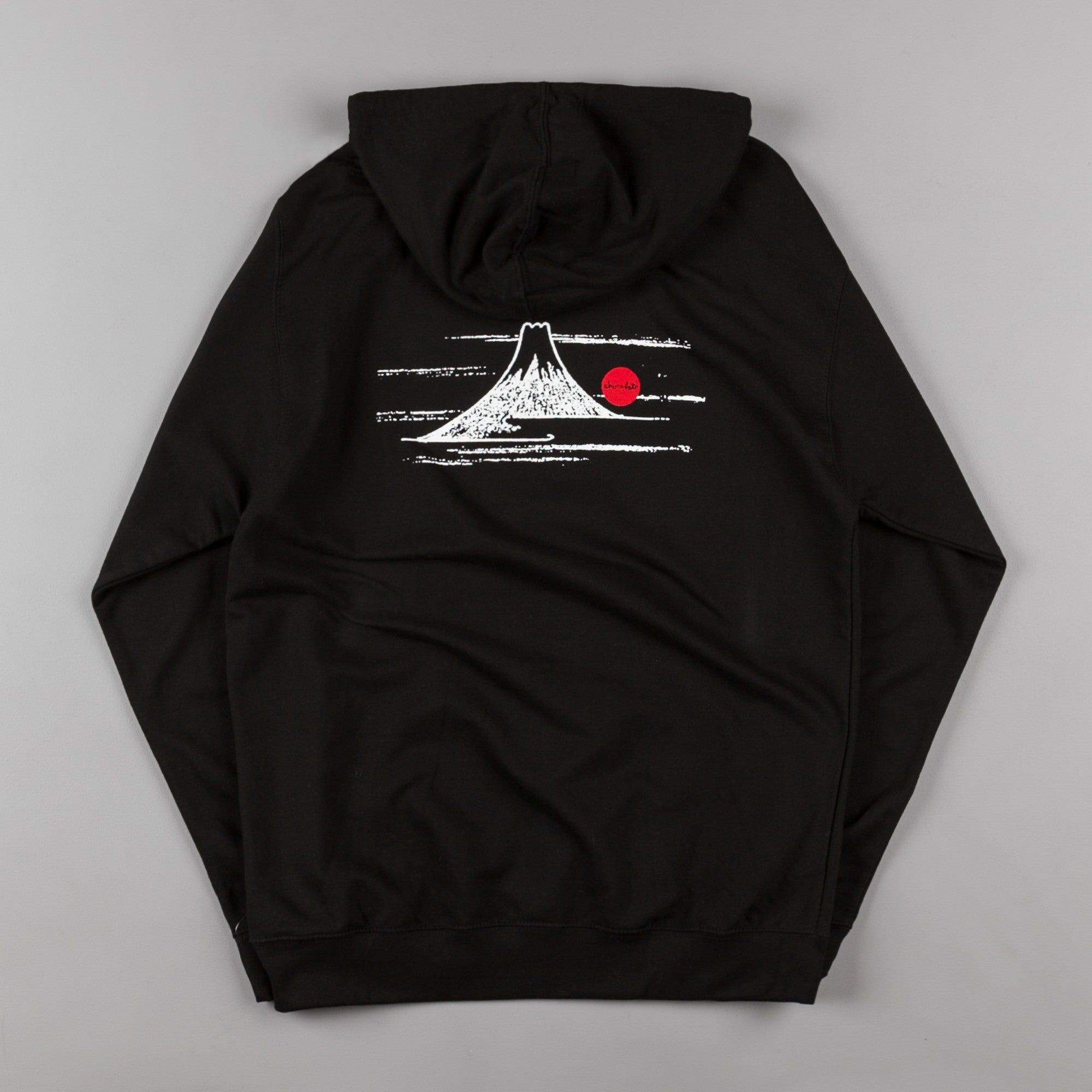 Chocolate Rising Sun Hooded Sweatshirt - Black