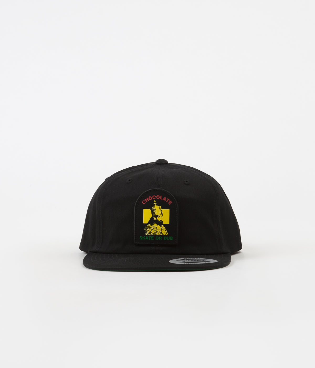 Chocolate Skate Or Dub Snapback Cap - Black