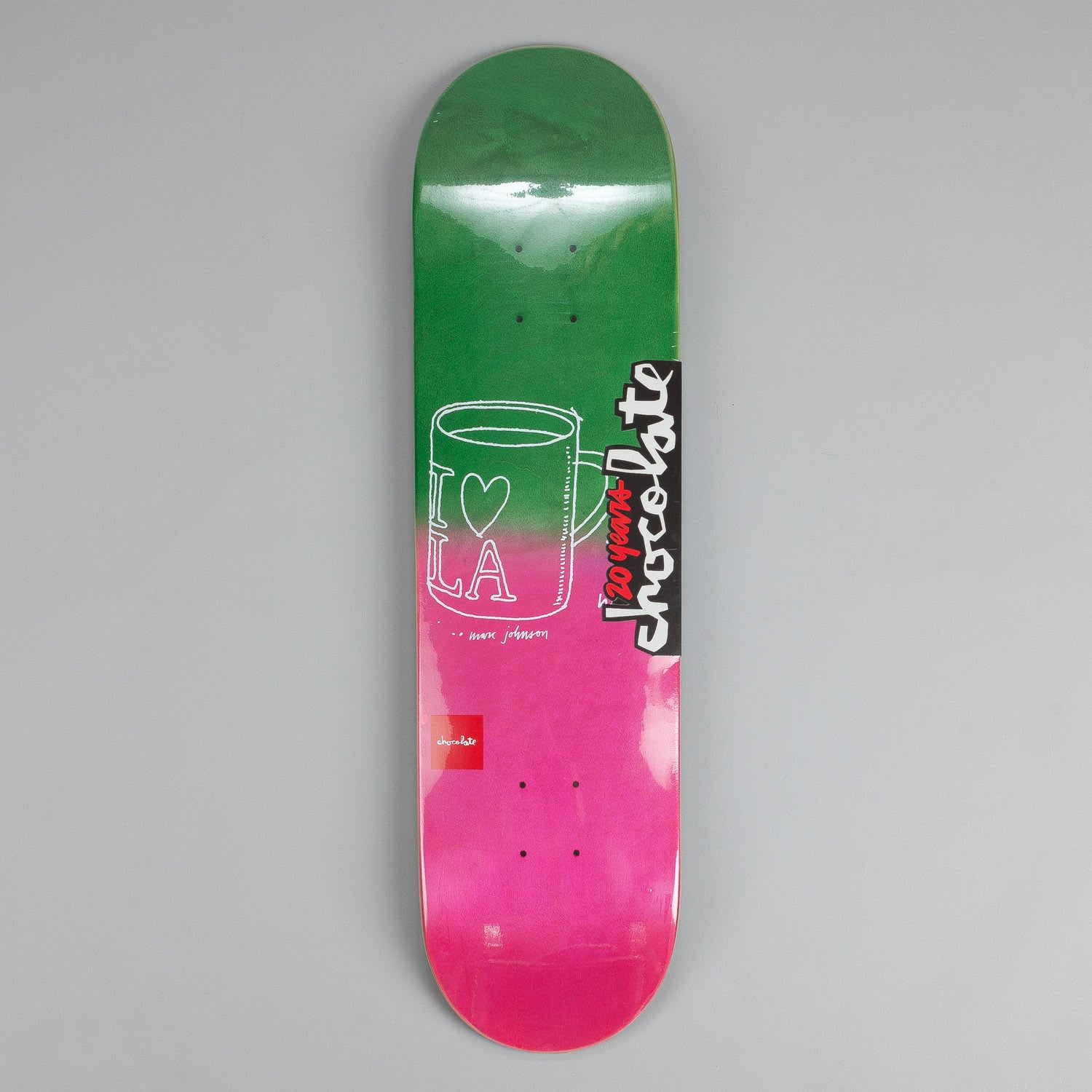Chocolate Sketch Fade Deck Marc Johnson 8.125""