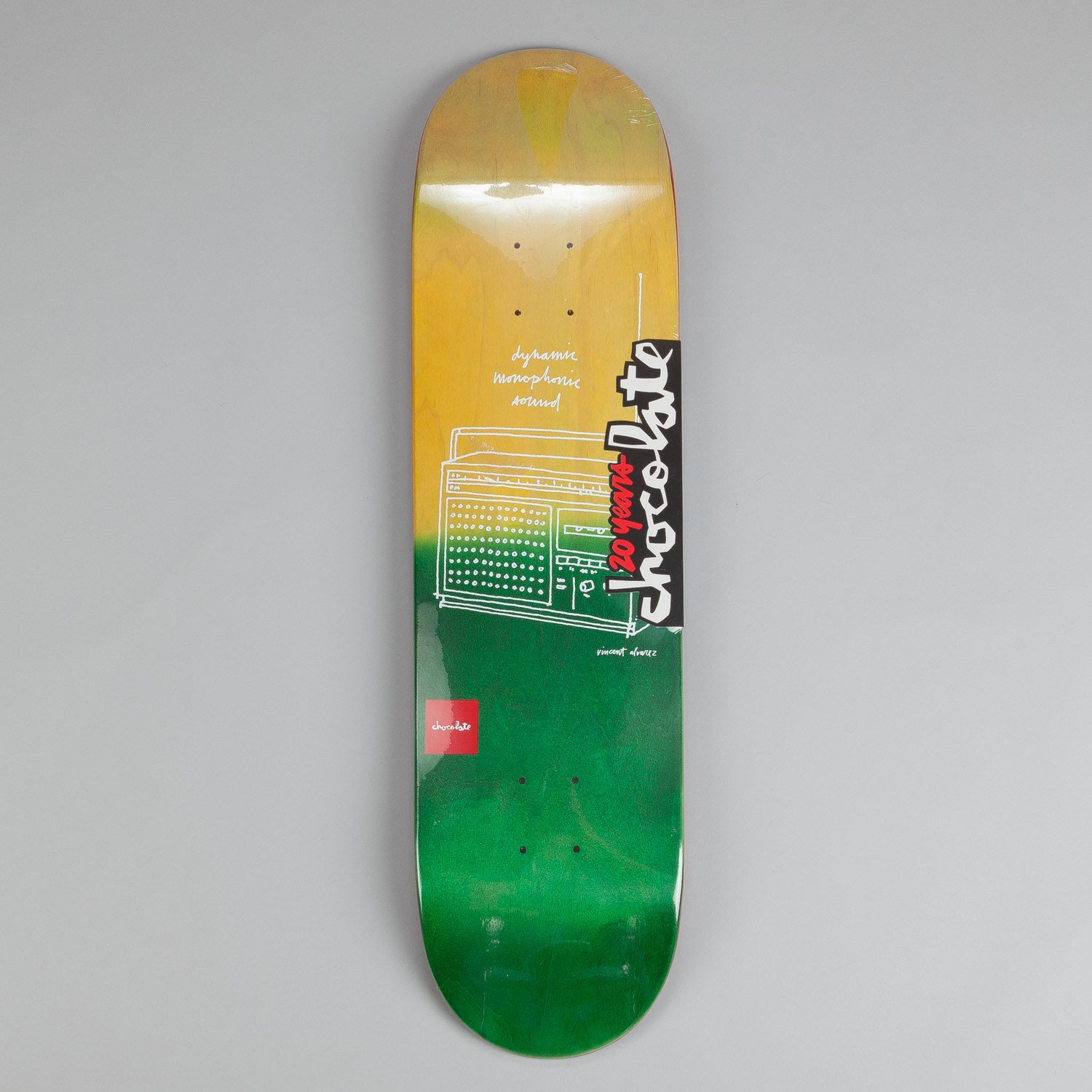 Chocolate Sketch Fade Deck Vincent Alvarez 8.25""