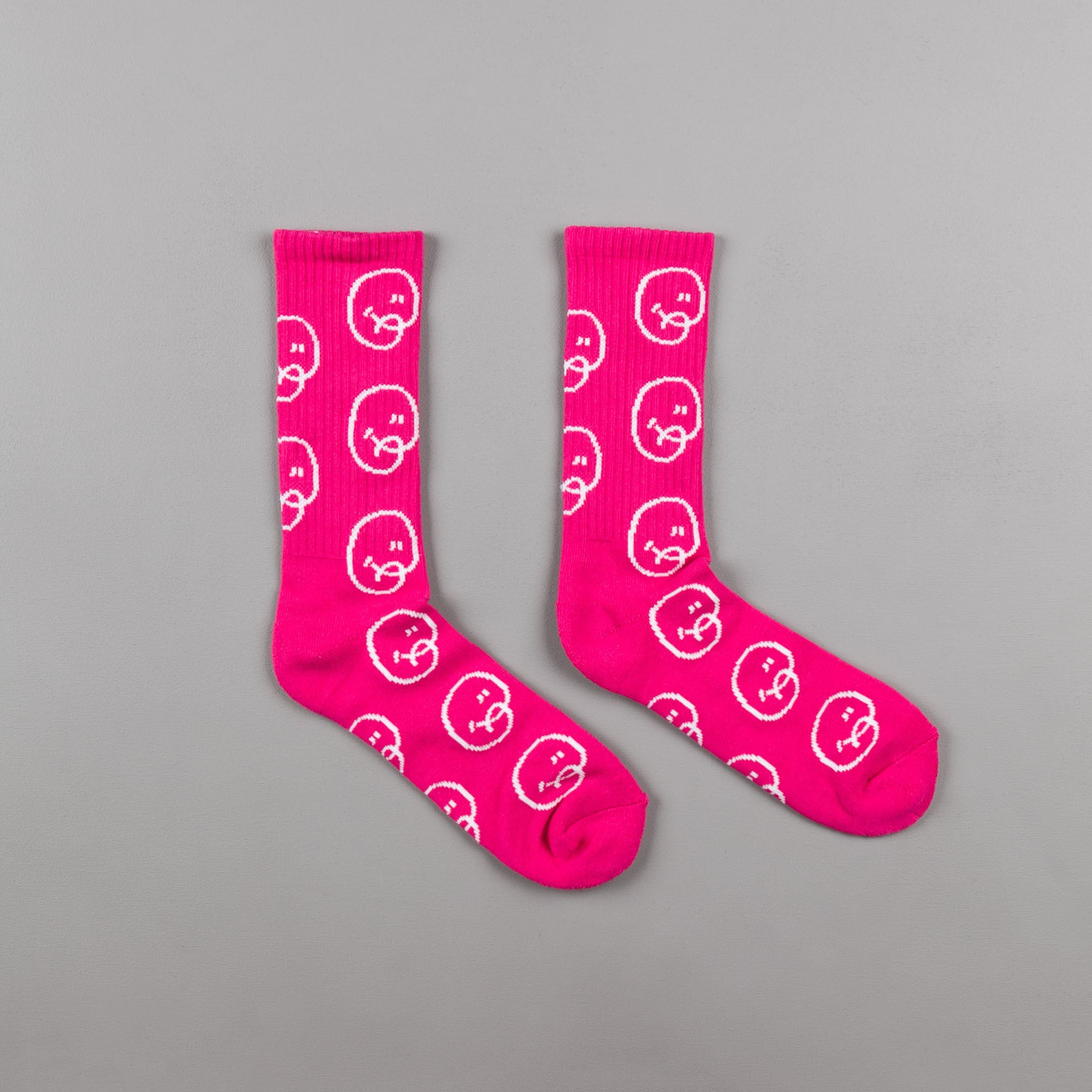 Chrystie NYC Bubble Man Socks (2-Pack) - Black / Pink