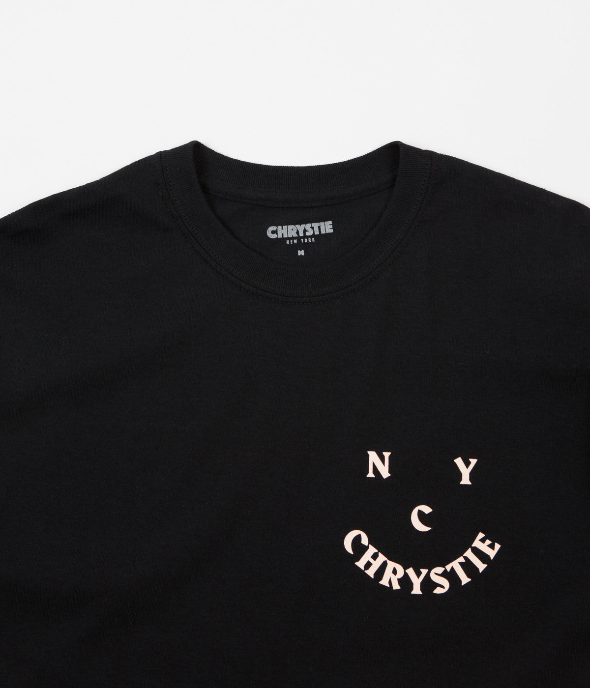Chrystie NYC Face Logo T-Shirt - Black