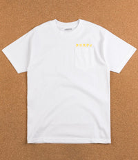 Chrystie NYC Japanese Logo Pocket T-Shirt - White