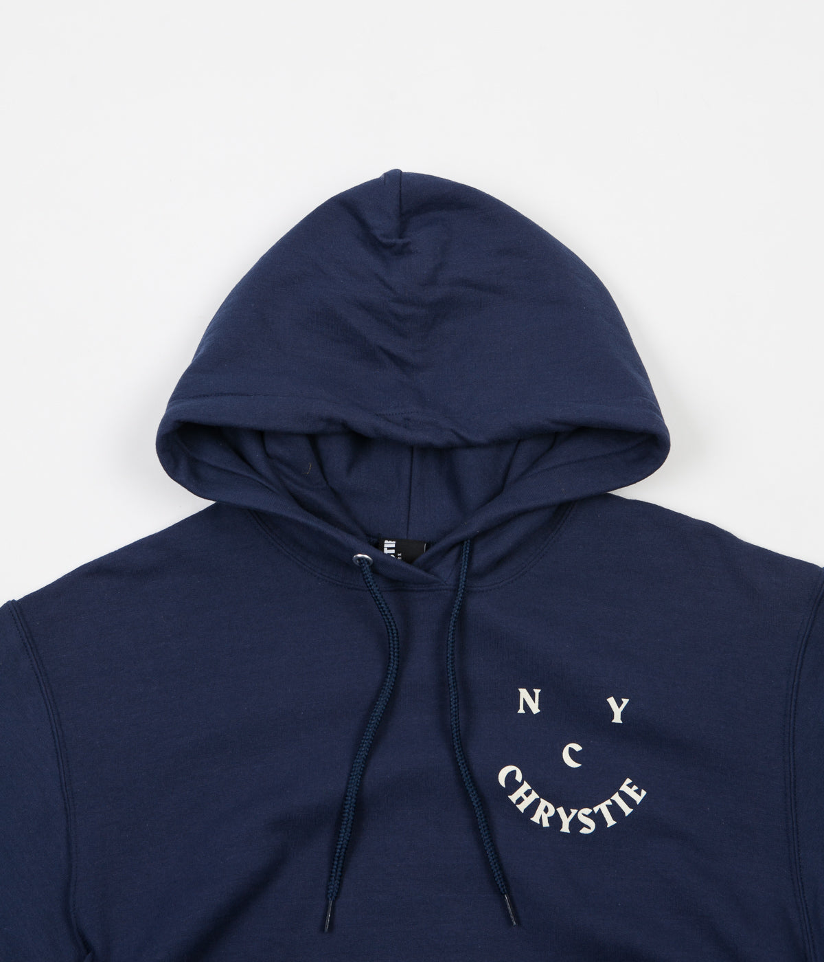 Chrystie NYC Smile Logo Hoodie - Harbour Blue