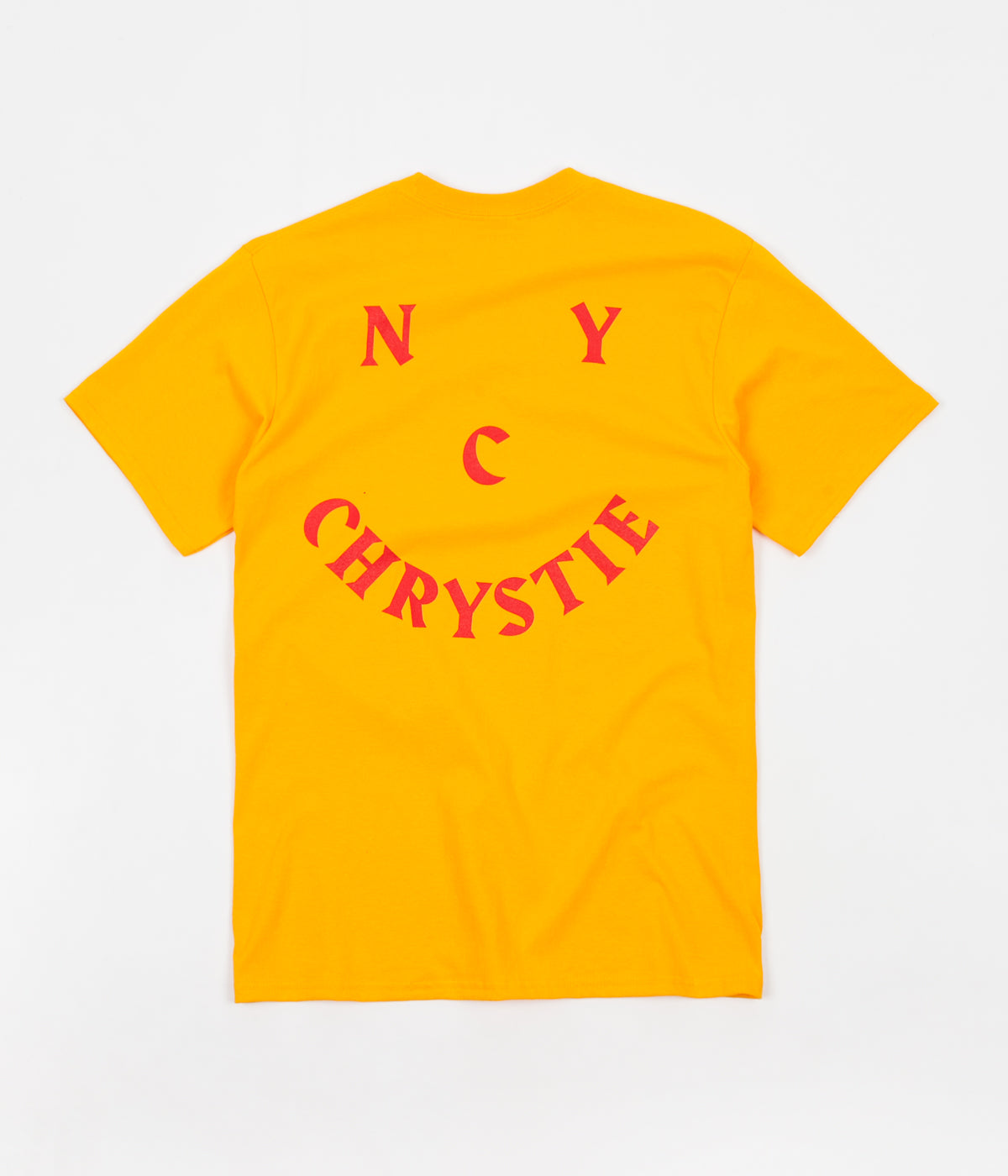 Chrystie NYC Smile Logo T-Shirt - Gold