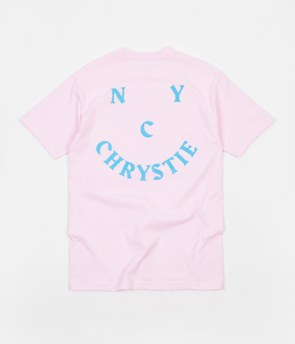 Chrystie NYC Smile Logo T-Shirt - Light Pink