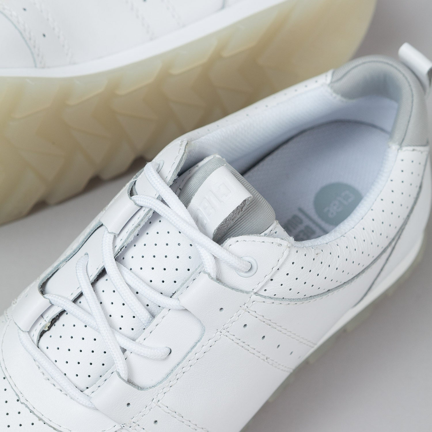 Clae Mills Shoes - White Tumbled Leather