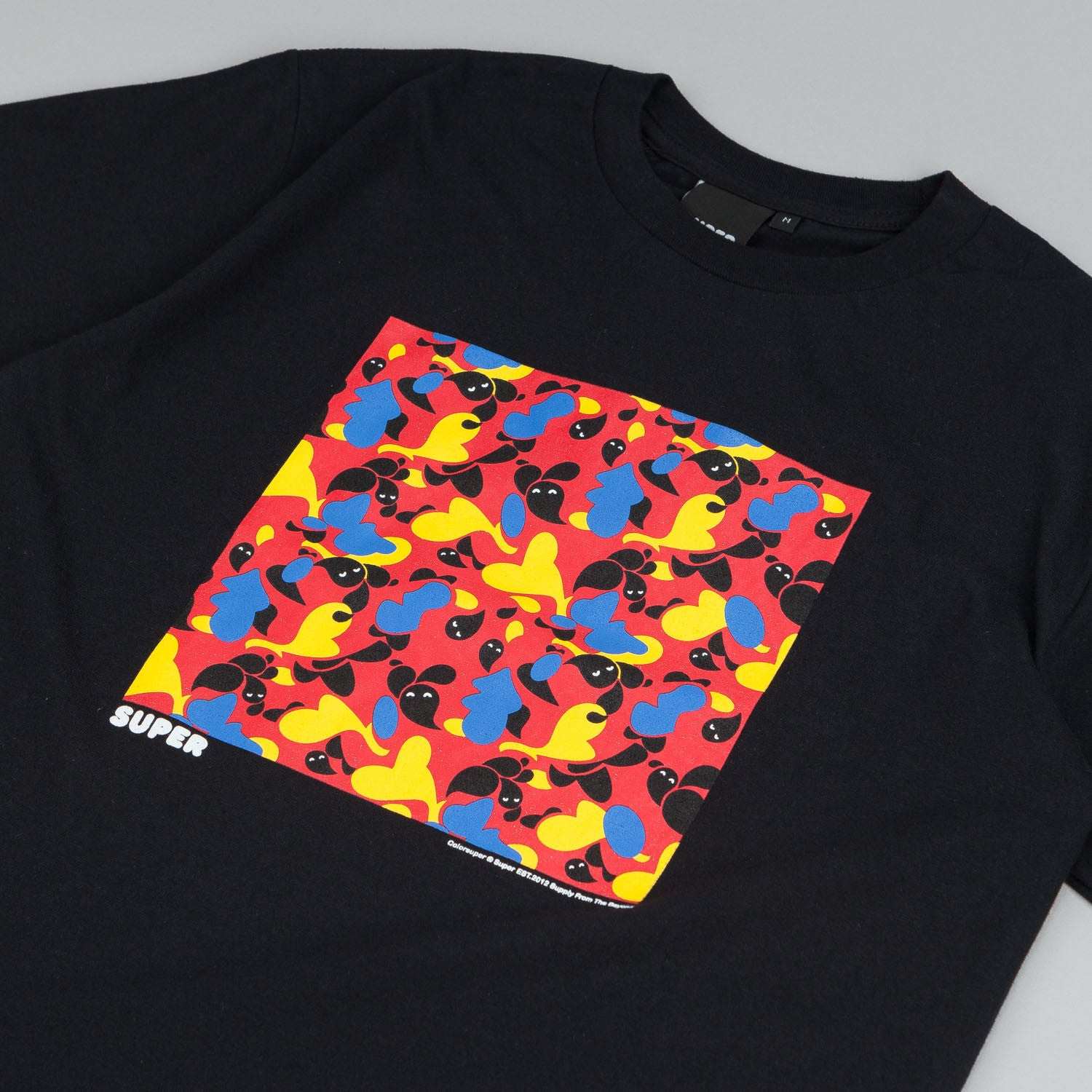 Colorsuper Camo Block T-Shirt Pink / Yellow / Blue