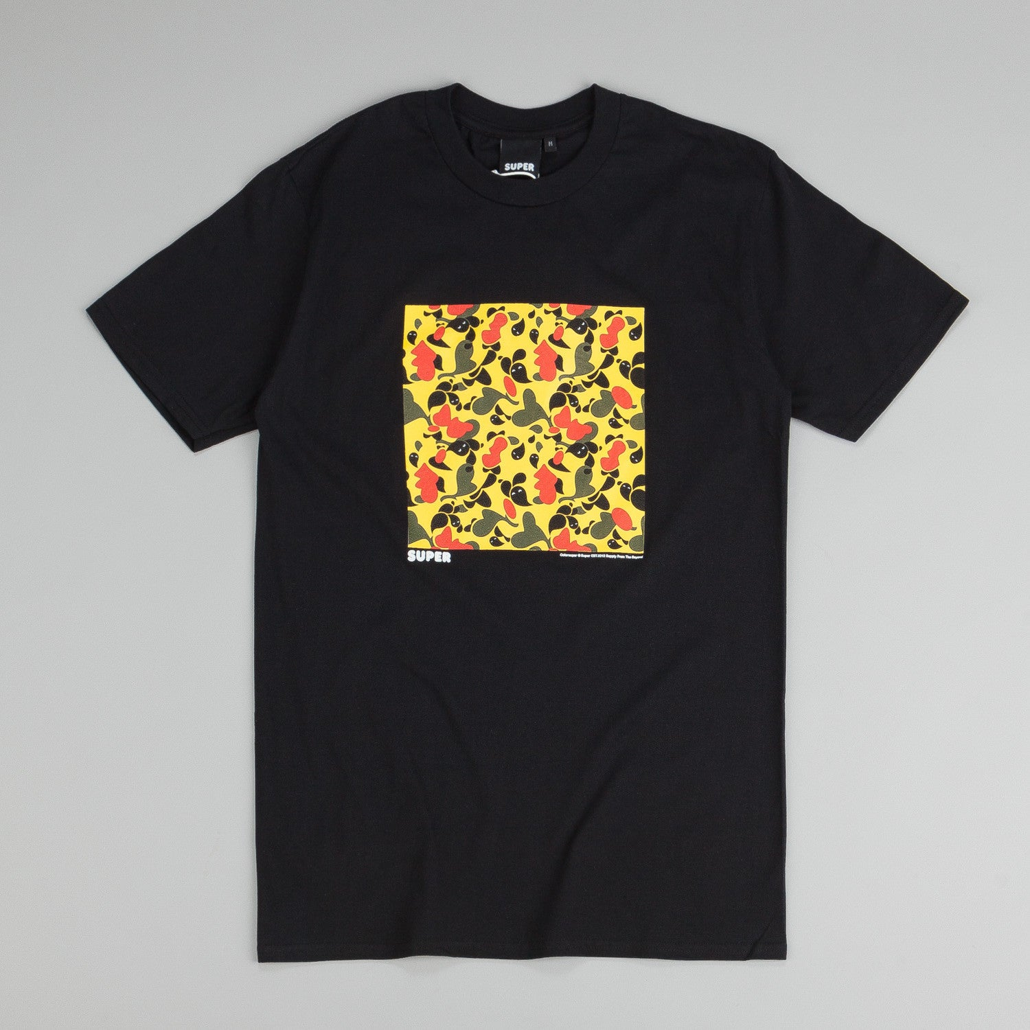 Colorsuper Camo Block T Shirt Yellow / Green / Red
